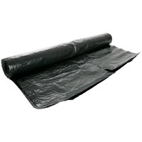 Capital Valley Plastics  Polythene Black Builders Film - 1200 Gauge