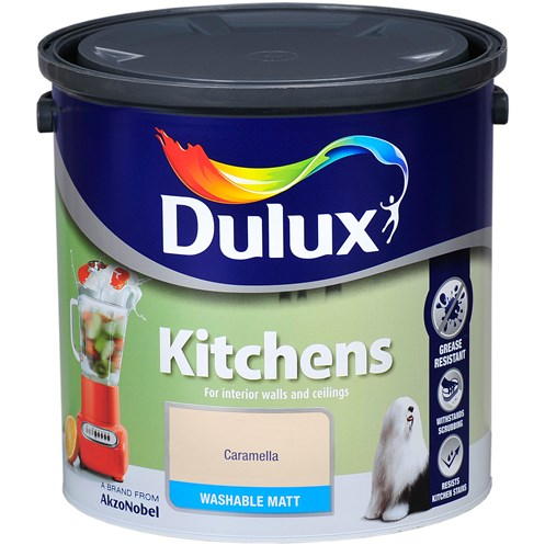 Dulux Kitchens Matt Colours Paint - 2.5 Litre
