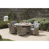 Wentworth Rattan 6 Seater Oval Dining Set