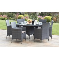 Malaga Rattan 6 Seater Round Furniture Set