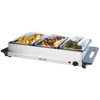 Prolectrix  Stainless Steel 3 Pan Electric Buffet Server