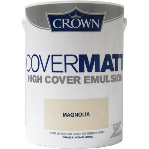 Crown  Covermatt Magnolia Paint - 5 Litre