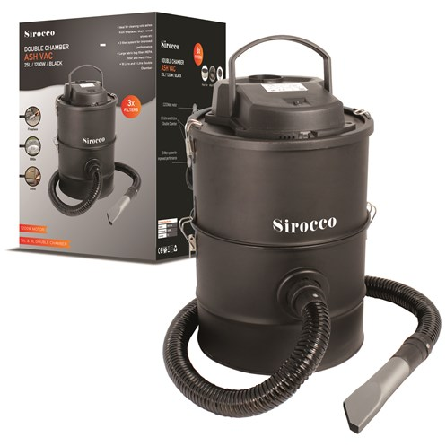Sirocco  Double Chamber 3 Filter Ash Vac - 25ltr