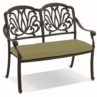 Hartman  Amalfi Cast Aluminium 2 Seater Bench - Green Cushion